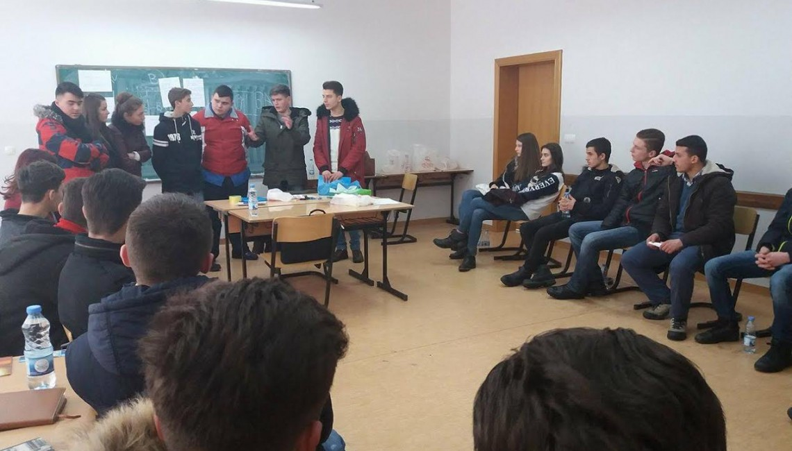 Job |Shadowing training has been held with students of vocational schools of economic and technical in Peja municipality