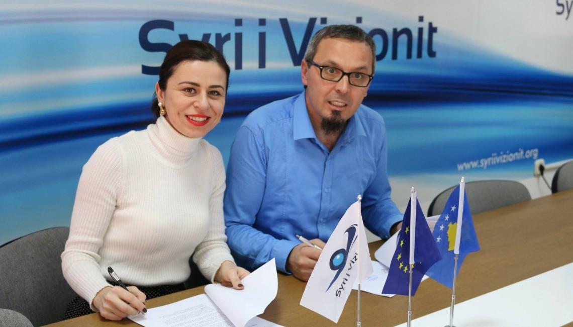 Memorandum of Understanding signed between Solidar Suisse Kosova and Syri I Vizionit for implementation of project PROCAREER