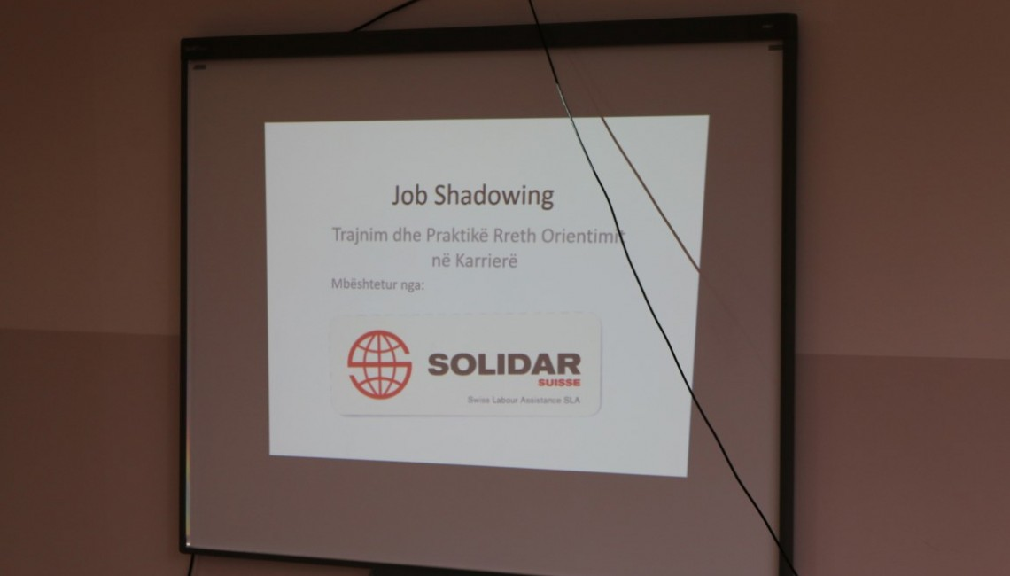 The awarding ceremony of participation in the Job shadowing activities